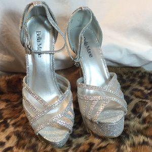 Bella Marie Cinderella Sparkle Stilettos Size 6.5